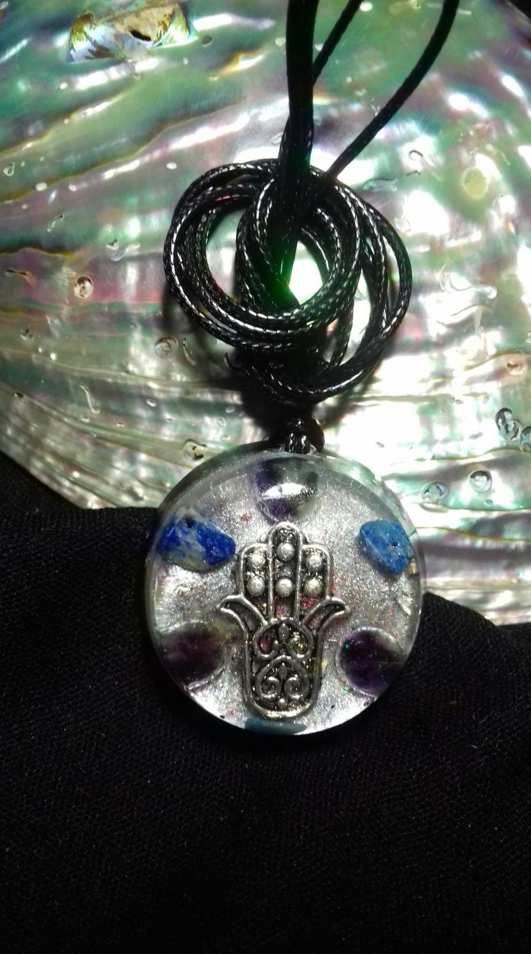 Orgonite pendentif ' Khamsa's Energy '