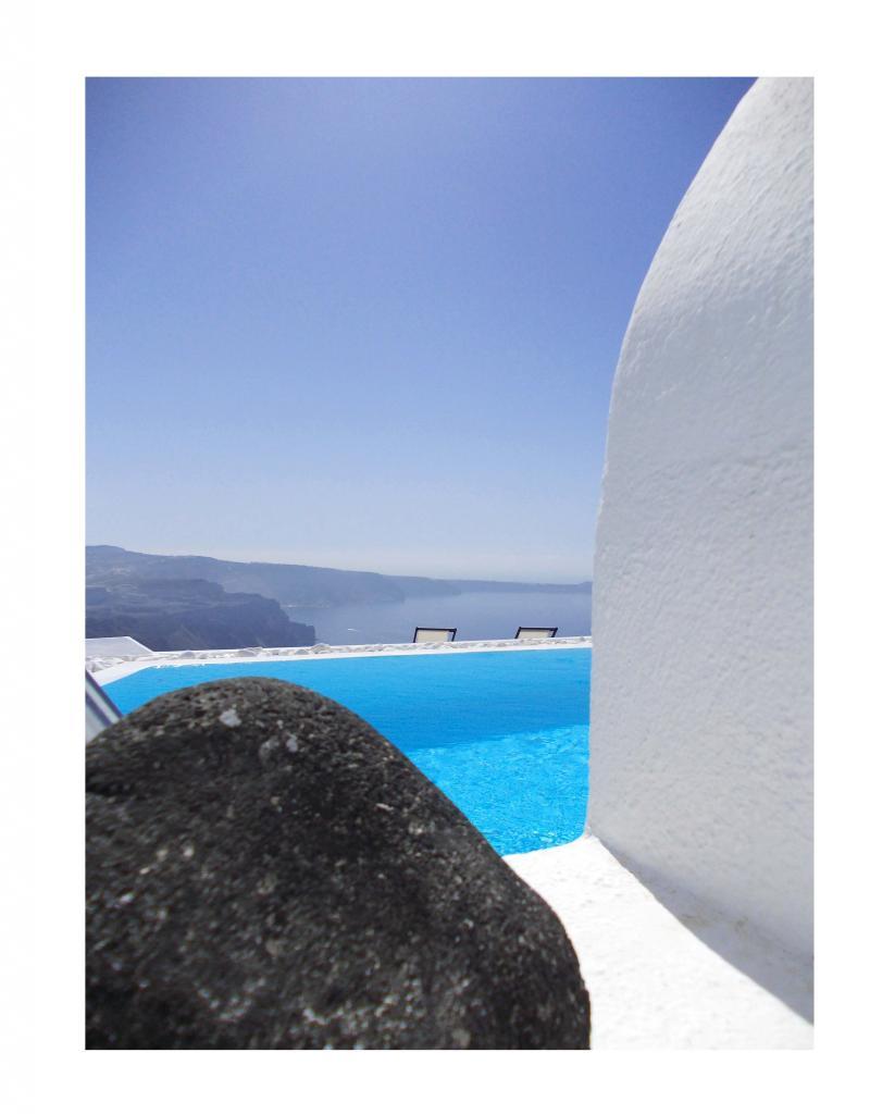 Piscine à Santorini
