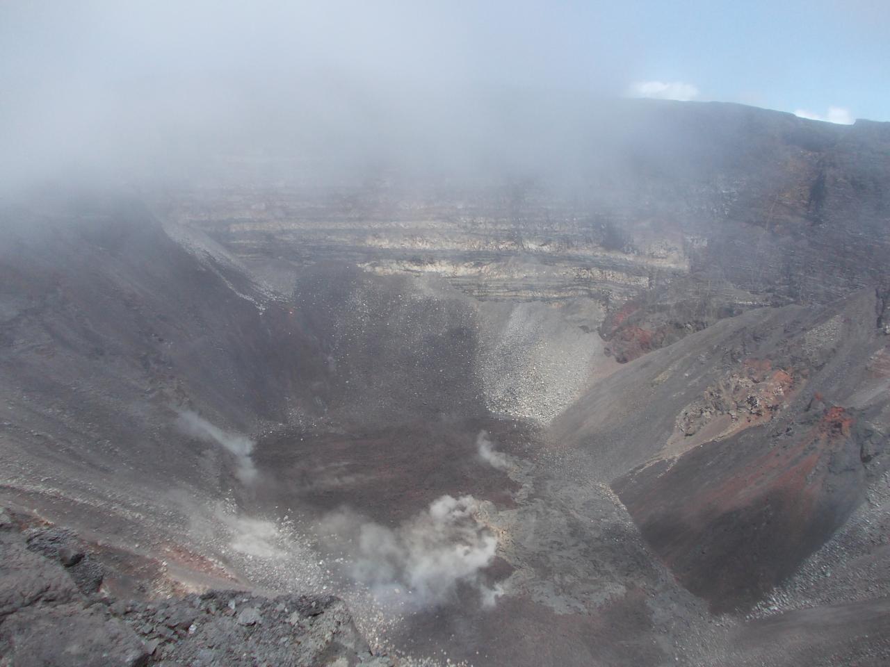 Cratère du Piton de la Fournaise. Mont Dolomieu, Réunion island'