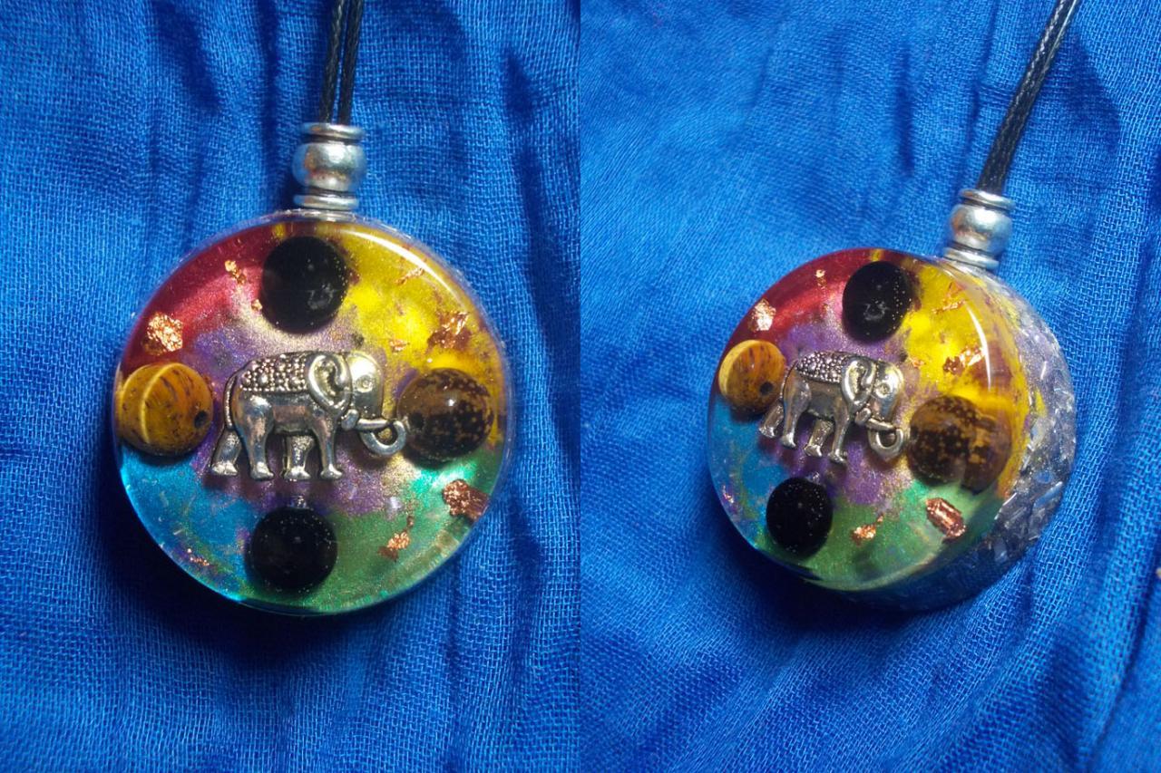 Orgonite pendentif ' Ganesha time ' mini