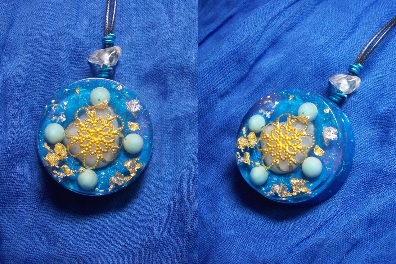 Orgonite pendentif ' Greek song 'mini'
