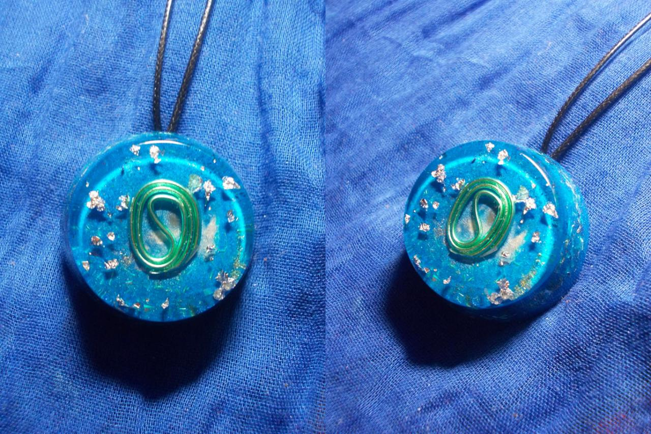 Orgonite pendentif ' Ocean's winds ' mini'''