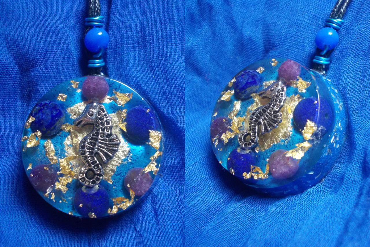 Orgonite pendentif ' Seahorse Dream 'mini'''